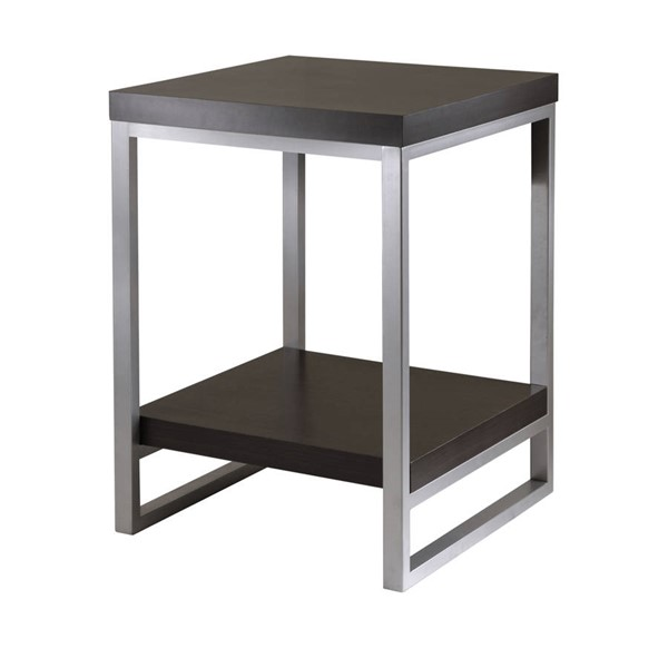 Winsome Jared Dark Espresso Wood Metal End Table WNS-93418