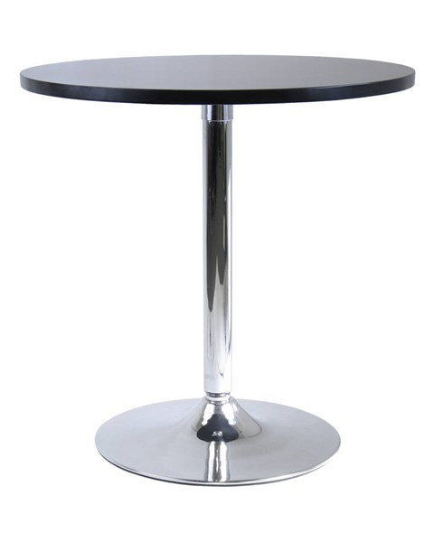 Winsome Spectrum Black Wood Metal Leg 29 Inch Round Dinning Table WNS-93729