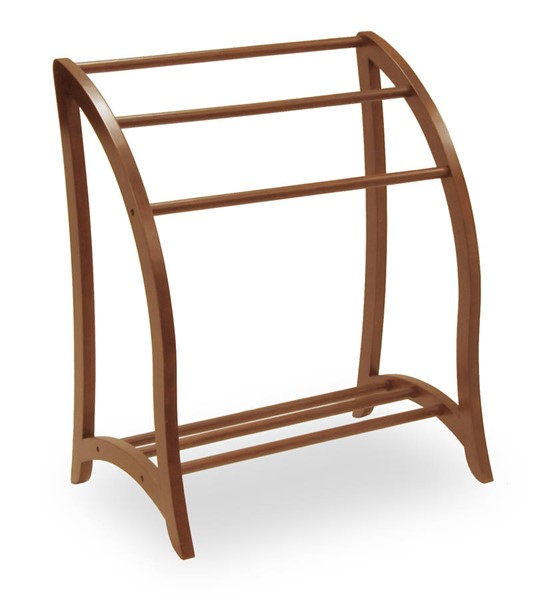 Winsome Betsy Antique Walnut Solid Wood Blanket Rack WNS-94036