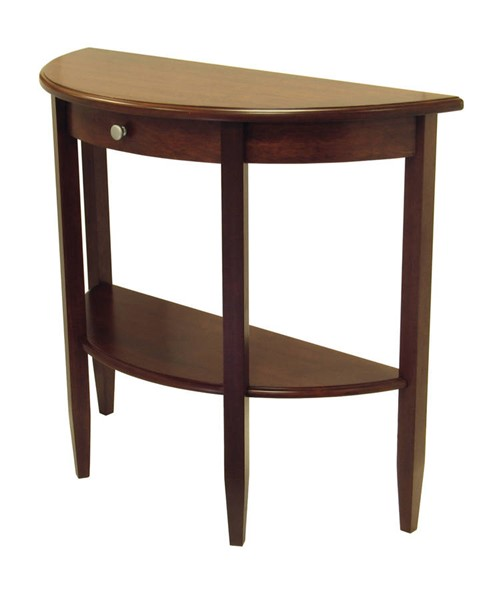 Winsome Concord Antique Walnut Solid Wood Drawer and Shelf Hall Console Table WNS-94039