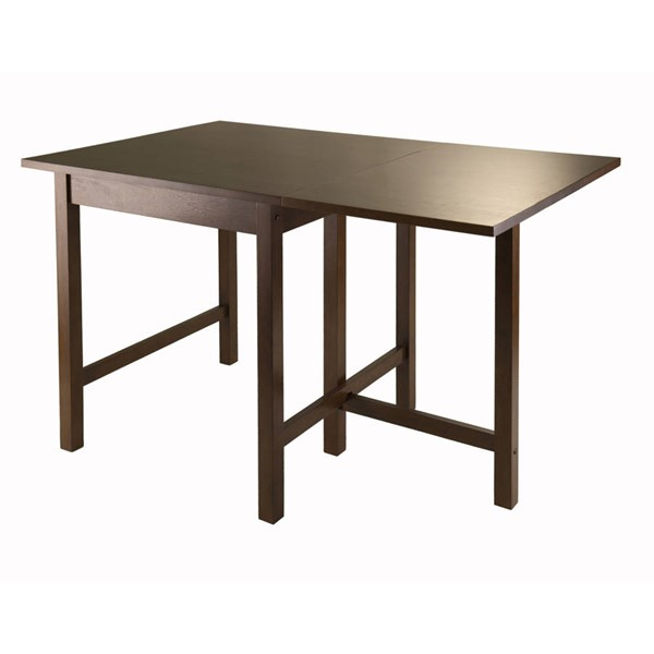Winsome Lynden Antique Walnut Solid Wood Drop Leaf Dining Table WNS-94048