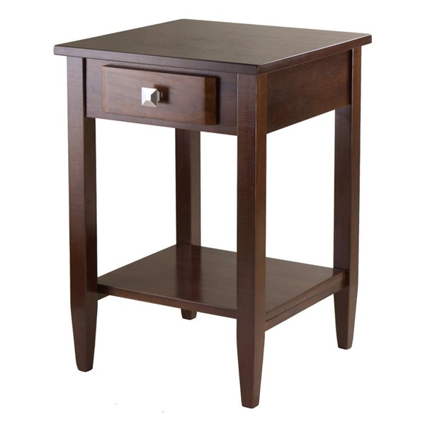 Winsome Richmond Antique Walnut Solid Wood End Table WNS-94118