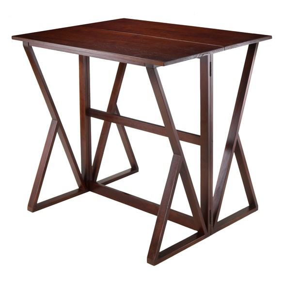 Winsome Harrington Antique Walnut Solid Wood Drop Leaf Hight Table WNS-94139