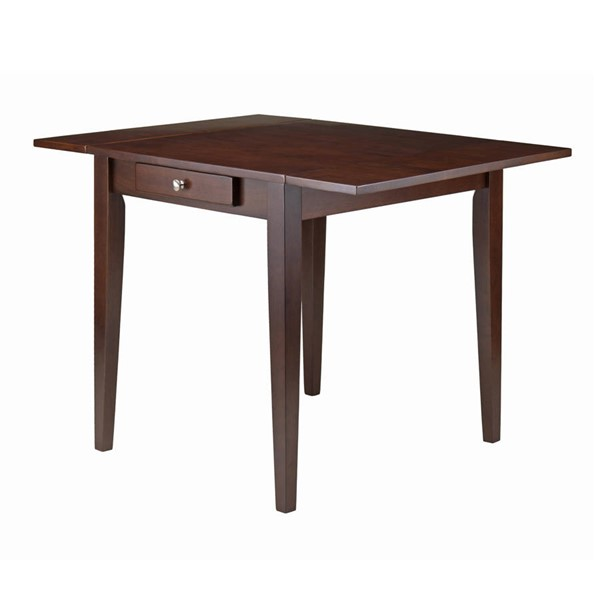 Winsome Hamilton Antique Walnut Solid Wood Double Drop Leaf Dining Table WNS-94141