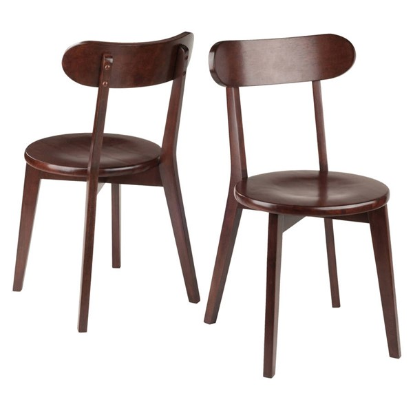 2 Winsome Pauline Walnut Solid Wood Chairs WNS-94209
