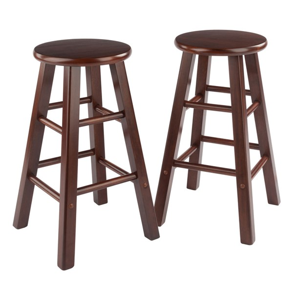 2 Winsome Element Walnut Counter Stools WNS-94274