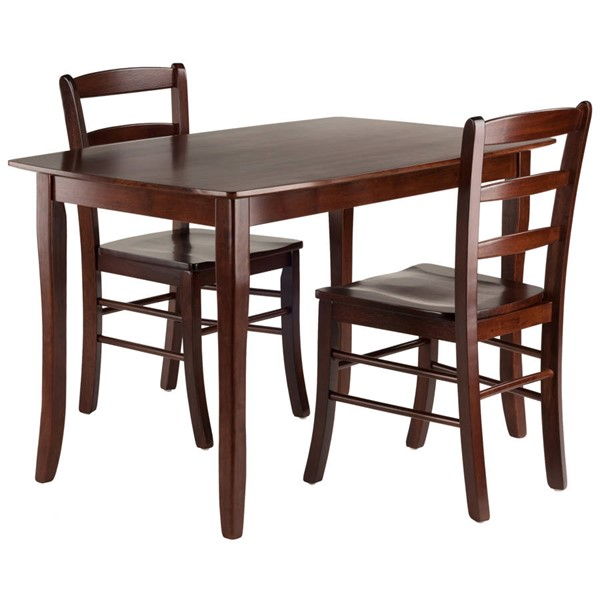 Winsome Inglewood Walnut Solid Wood 3pc Dining Table Set WNS-94319