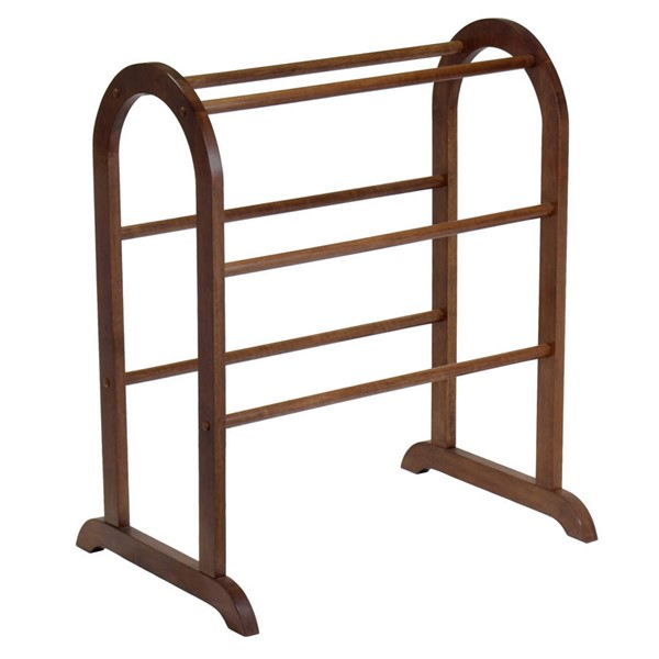 Winsome Eleanor Antique Walnut Solid Wood Quilt Rack WNS-94326