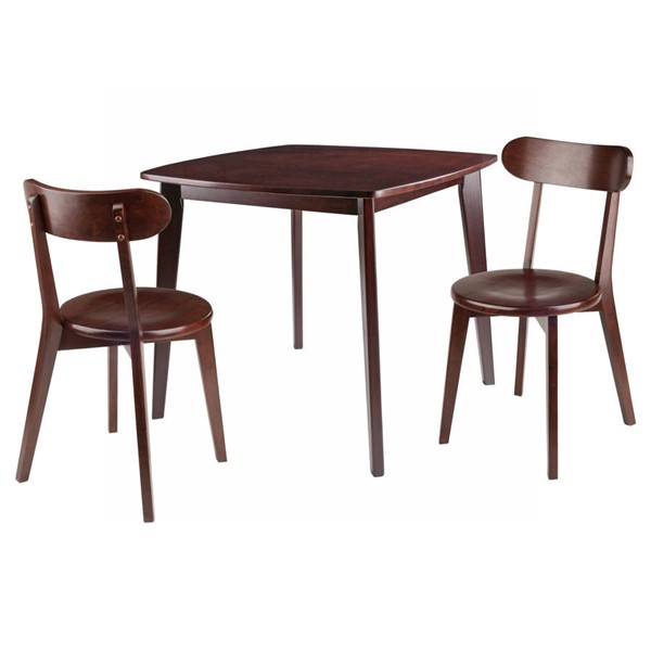 Winsome Pauline Walnut Solid Wood 3pc Dining Room Set WNS-94333