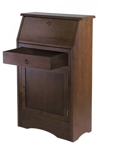 Winsome Regalia Walnut Solid Wood Secretary Desk WNS-94339