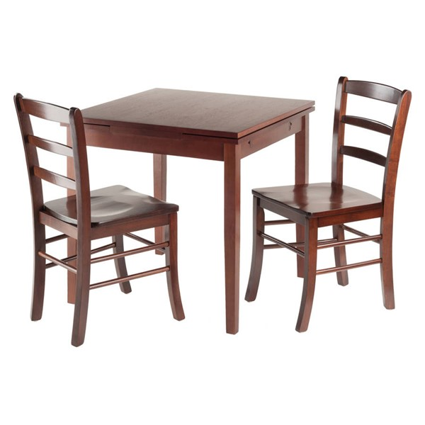 Winsome Pulman Walnut Solid Wood Extension 3pc Dining Room Set WNS-94352