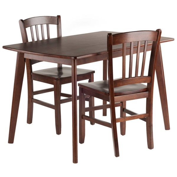Winsome Shaye Walnut Solid Wood 3pc Dining Room Set WNS-94358