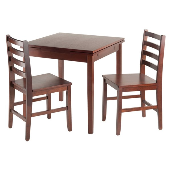 Winsome Pulman Walnut Solid Wood 3pc Extension Dining Room Set WNS-94367