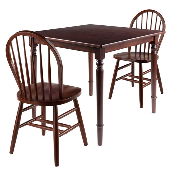 Winsome Mornay Walnut Solid Wood 3pc Dining Room Set WNS-94396