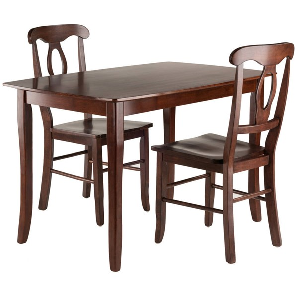 Winsome Inglewood Walnut Solid Wood 3pc Dining Room Set WNS-94398