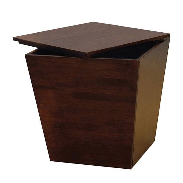 Winsome Mesa Antique Walnut Solid Wood Storage Cube End Table WNS-94418