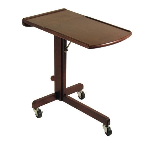 Winsome Olson Antique Walnut Solid Wood Adjustable Laptop Cart WNS-94423