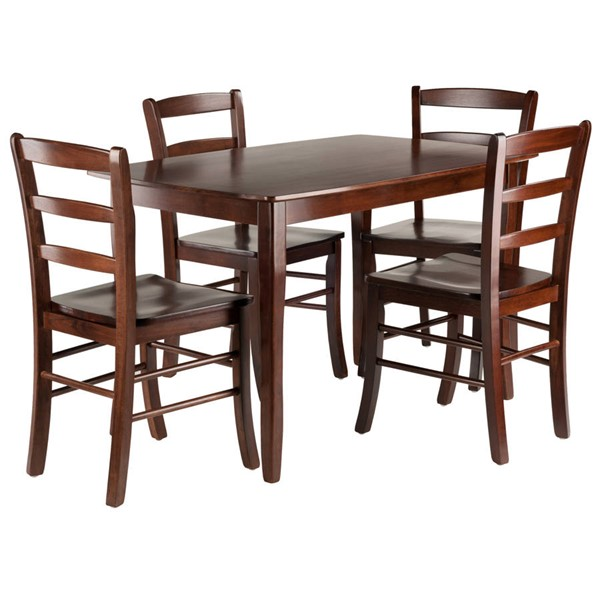 Winsome Inglewood Walnut Solid Wood 5pc Dining Room Set WNS-94508