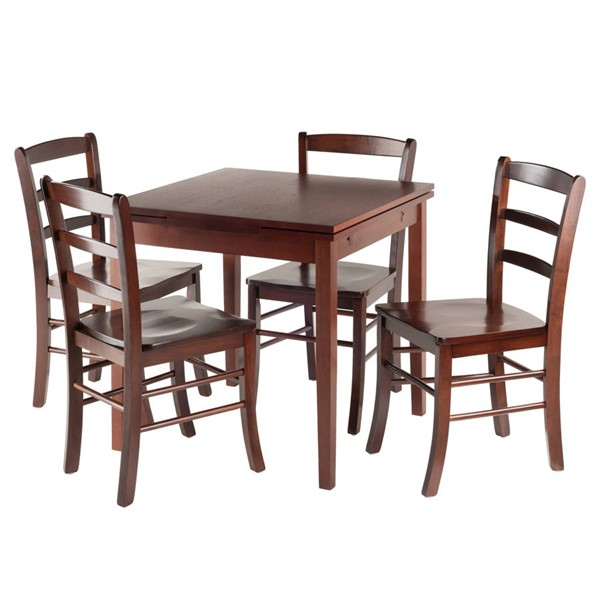 Winsome Pulman Walnut Solid Wood Extension 5pc Dining Room Set WNS-94535