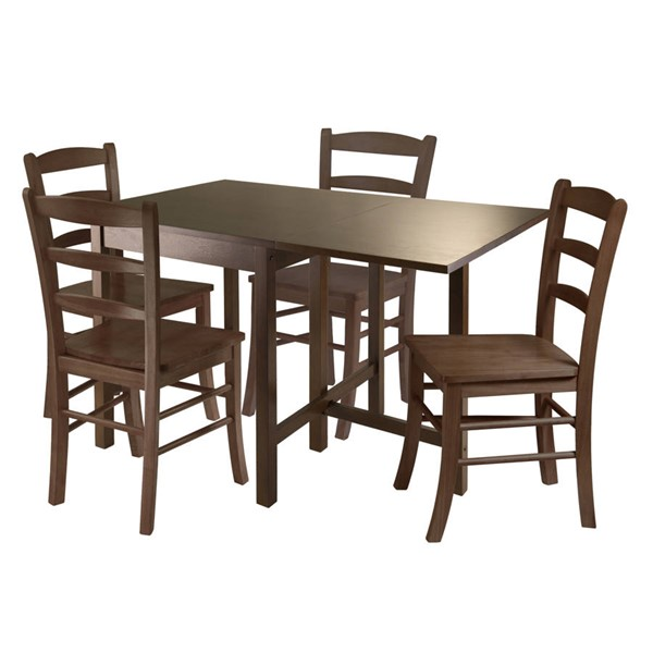 Winsome Lynden Antique Walnut Solid Wood 5pc Dining Room Set WNS-94545