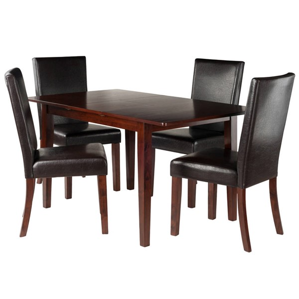 Winsome Anna Walnut Solid Wood 5pc Dining Room Set WNS-94573