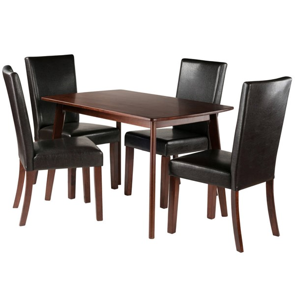 Winsome Shaye Walnut Solid Wood 5pc Dining Room Set WNS-94574