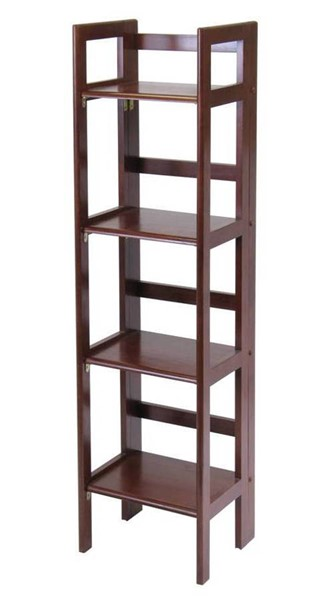 Winsome Terry Antique Walnut Solid Wood Folding Bookcase WNS-94852