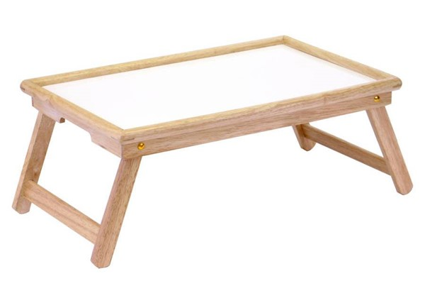 Winsome Ventura Natural White Wood Melamine Breakfast Bed Tray WNS-98721