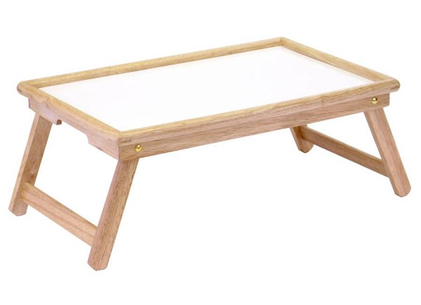 Winsome Stockton Natural White Wood Melamine Breakfast Bed Tray WNS-98821