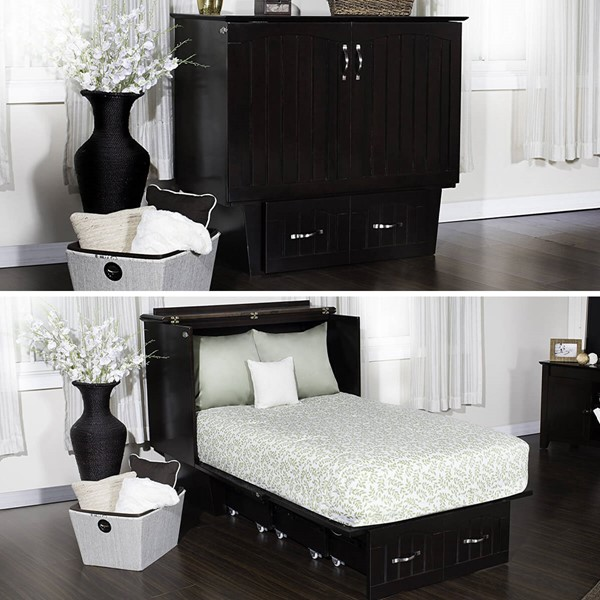 Zebra Products Rajkot Espresso Twin Murphy Chest Bed With Coolsoft Mattress ZBR-AC592141