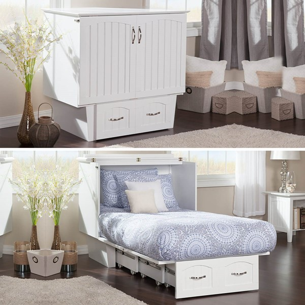 Zebra Products Rajkot White Twin Murphy Chest Bed With Coolsoft Mattress ZBR-AC592142