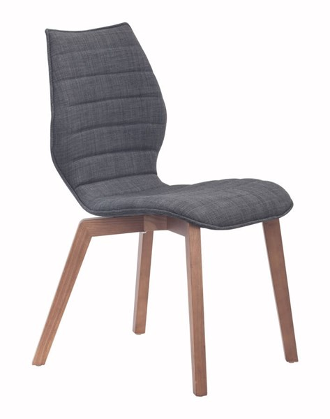 2 Zuo Furniture Aalborg Graphite Dining Chairs ZUO-100057