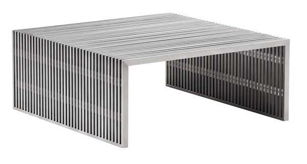 Zuo Furniture Novel Brushed Square Coffee Table ZUO-100084