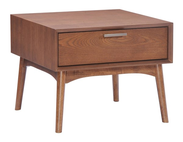 Zuo Furniture Design District Walnut Side Table ZUO-100092