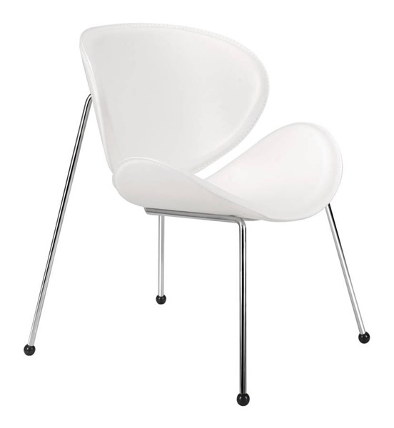 2 Zuo Furniture Match White Occasional Chairs ZUO-100102