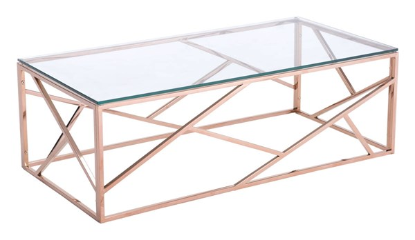 Zuo Furniture Cage Gold Rectangle Coffee Table ZUO-100180