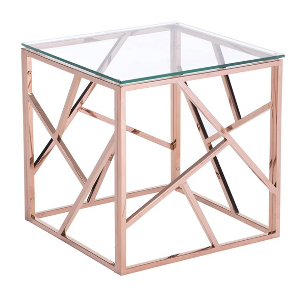 Zuo Furniture Cage Gold Square Side Table ZUO-100182