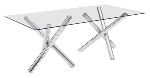 Zuo Furniture Stant Chrome Rectangle Dining Table ZUO-100351