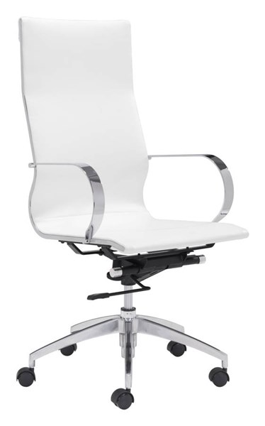 Zuo Furniture Glider White High Back Office Chair ZUO-100372