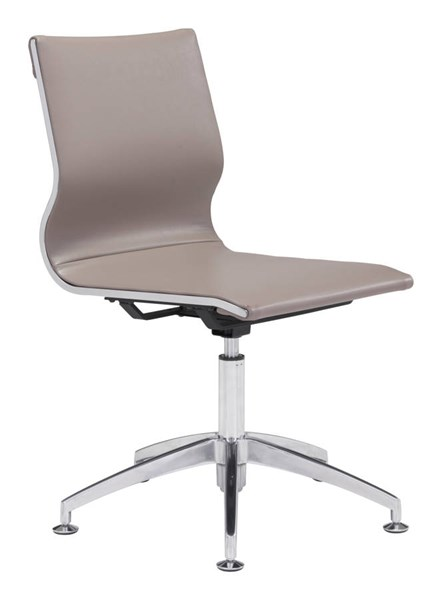 Zuo Furniture Glider Taupe Conference Chair ZUO-100379