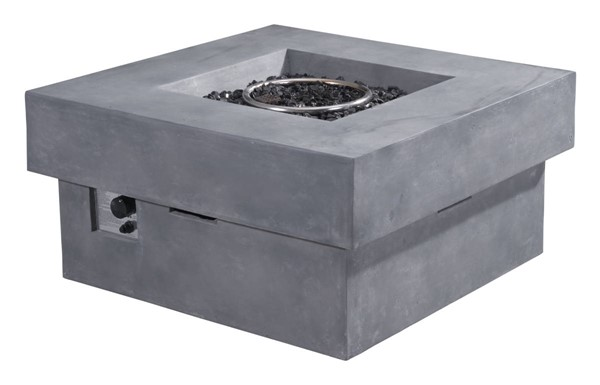 Zuo Furniture Diablo Vive Gray Propane Fire Pit ZUO-100413