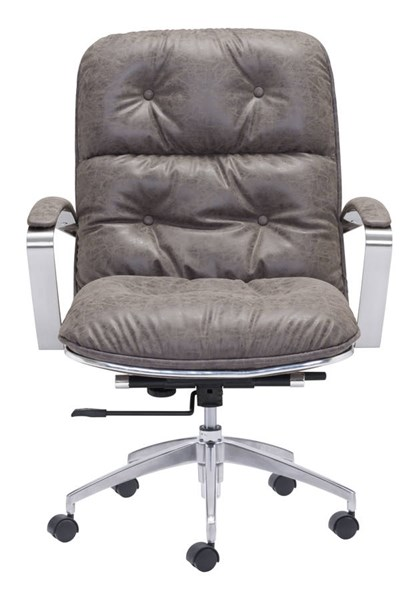 Zuo Furniture Avenue Era Vintage Gray Office Chair ZUO-100447