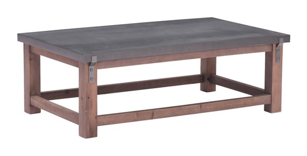 Zuo Furniture Greenpoint Era Gray Distressed Coffee Table ZUO-100502