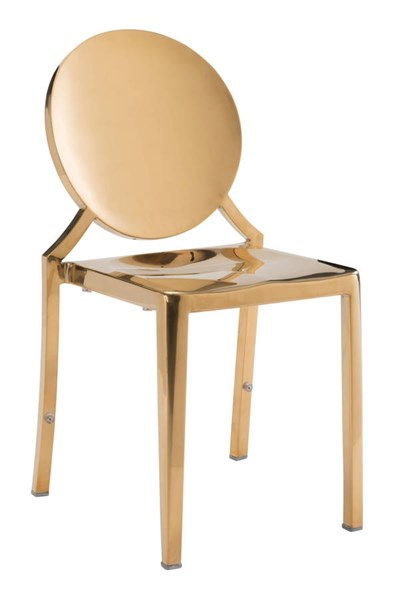 2 Zuo Furniture Eclispe Gold Dining Chairs ZUO-100553