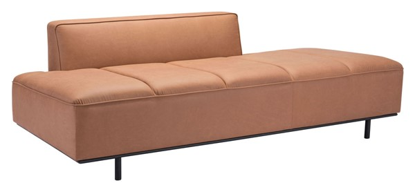 Zuo Furniture Confection Brown Fabric Black Frame Sofa ZUO-101925