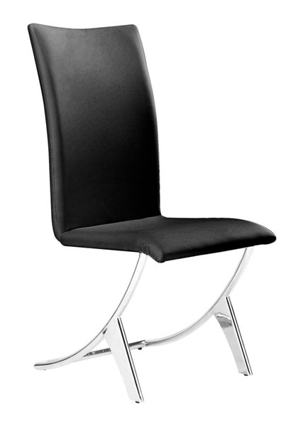 2 Zuo Furniture Delfin Black Dining Chairs ZUO-102101