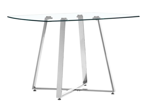 Zuo Furniture Lemon Drop Chrome Dining Table ZUO-102195
