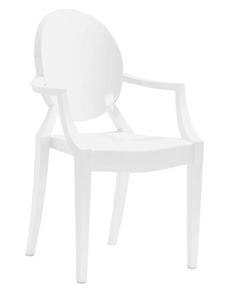 4 Zuo Furniture Anime White Dining Chairs ZUO-106102