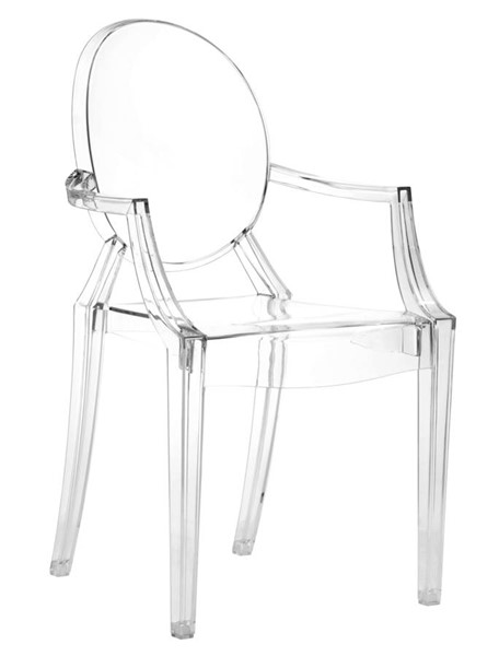 4 Zuo Furniture Anime Transparent Dining Chairs ZUO-106104