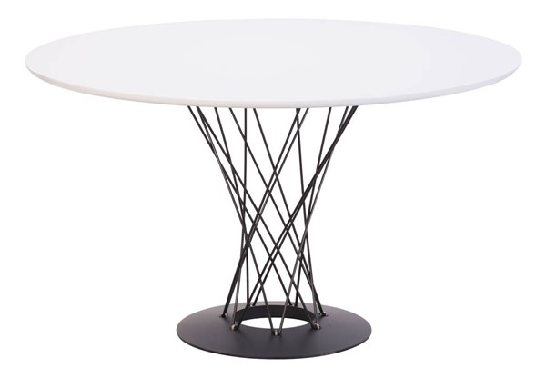 Zuo Furniture Spiral White Dining Table ZUO-110040
